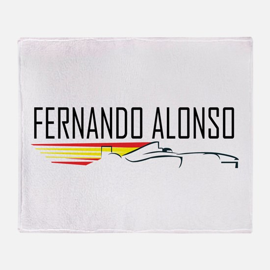 fernando alonso tee.png Throw Blanket