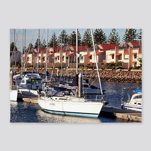 Yachts in Marina, North Haven, Sout 5'x7'Area Rug