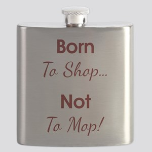 BORN TO SHOP Flask