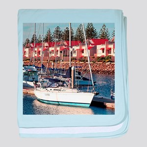 Yachts in Marina, North Haven, South baby blanket