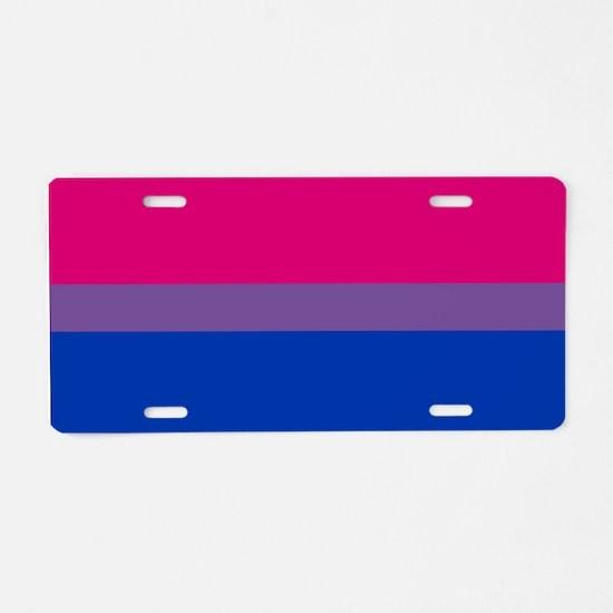 Bisexual Pride Flag Aluminum License Plate