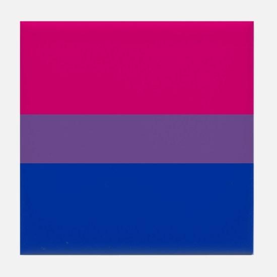 Bisexual Pride Flag Tile Coaster