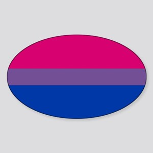 Bisexual Pride Flag Sticker (Oval)