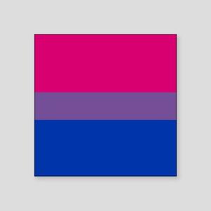 "Bisexual Pride Flag Square Sticker 3"" x 3"""