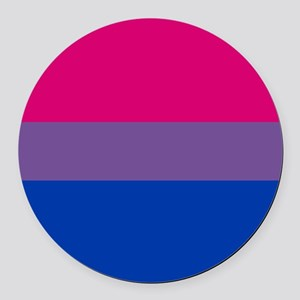 Bisexual Pride Flag Round Car Magnet