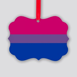 Bisexual Pride Flag Picture Ornament