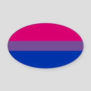 Bisexual Pride Flag Oval Car Magnet