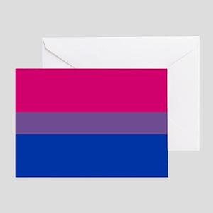 Bisexual Pride Flag Greeting Card