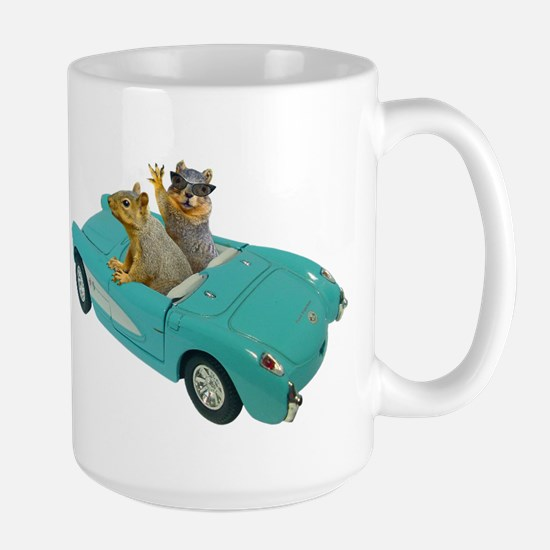 Squirrels Car Stainless Steel Travel Mugs