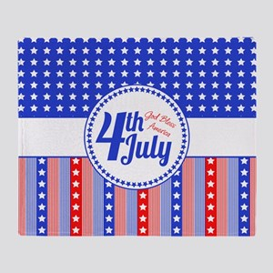 4th July Throw Blanket