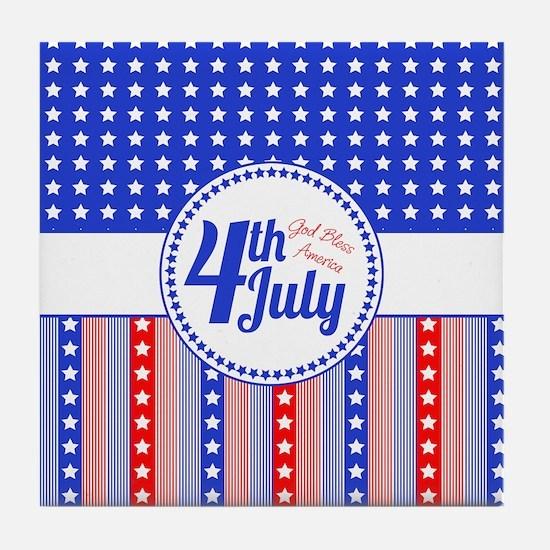 4th July Tile Coaster