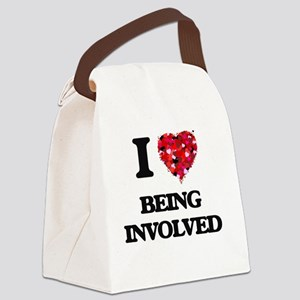 I Love Being Involved Canvas Lunch Bag