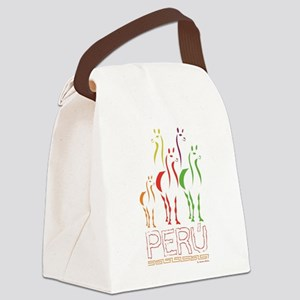 Llamas Canvas Lunch Bag