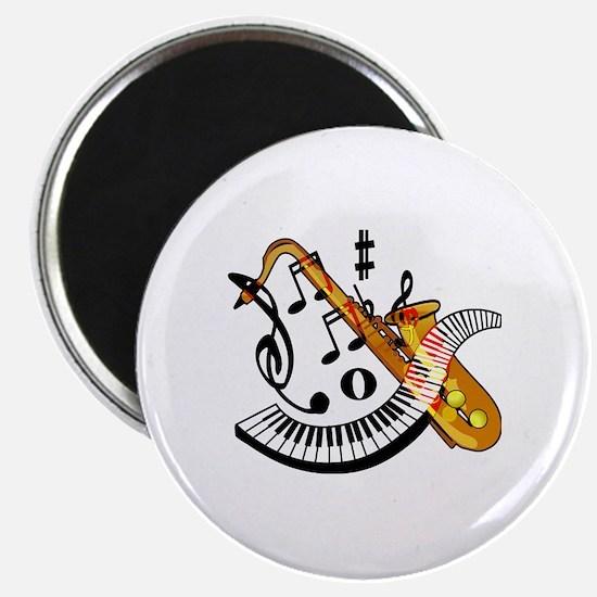 Cute Sax Magnet