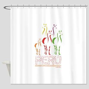 Llamas Shower Curtain