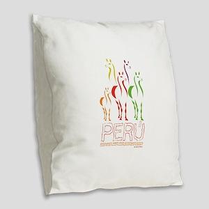 Llamas Burlap Throw Pillow