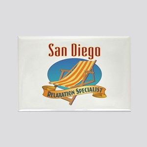 San Diego Relax Rectangle Magnet
