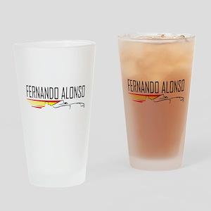 fernando alonso tee Drinking Glass