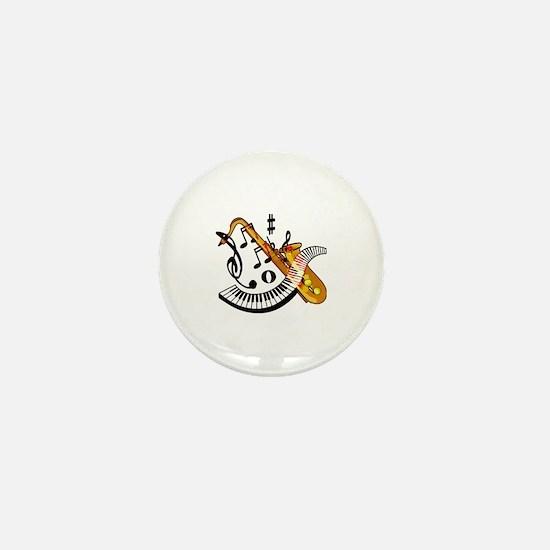 Cute Saxaphone Mini Button