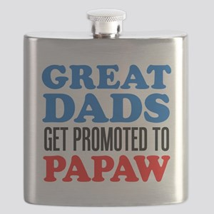 Promoted To Papaw Drinkware Flask