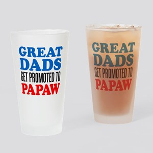 Promoted To Papaw Drinkware Drinking Glass
