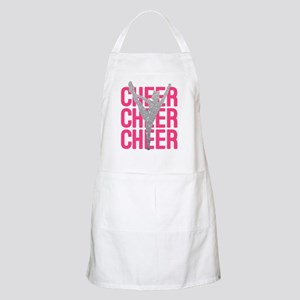 Pink Cheer Glitter Silhouette Apron