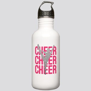 Pink Cheer Glitter Sil Stainless Water Bottle 1.0L