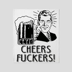Cheers Fuckers Beer Party Throw Blanket