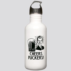 Cheers Fuckers Beer Pa Stainless Water Bottle 1.0L