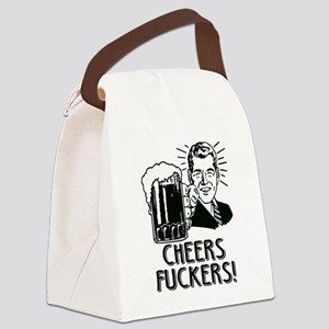 Cheers Fuckers Beer Party Canvas Lunch Bag