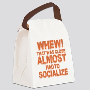 Introverted Introvert Canvas Lunch Bag
