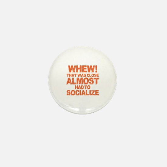 Introverted Introvert Mini Button