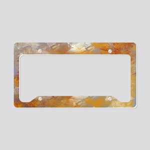 Abstract in Butterscotch, Red License Plate Holder