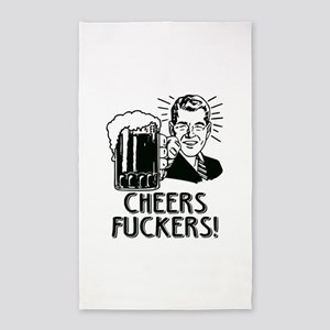 Cheers Fuckers Beer Party Area Rug