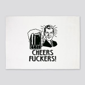 Cheers Fuckers Beer Party 5'x7'Area Rug