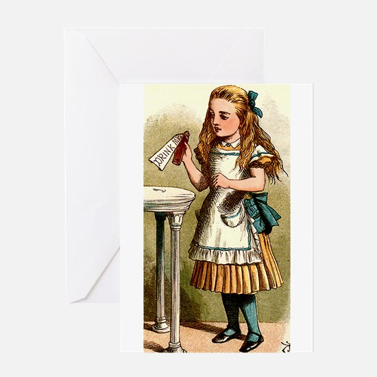 Alice In Wonderland - Drink Me Greeting Cards