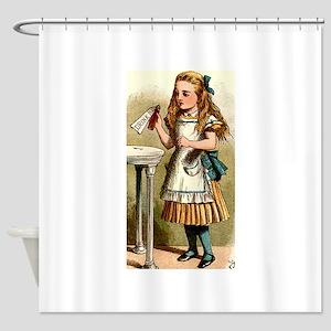 Alice in Wonderland - Drink Me Shower Curtain