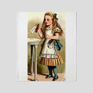 Alice In Wonderland - Drink Me Throw Blanket