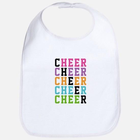 Rainbow Cheer Words Bib
