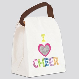 I Heart Cheer Canvas Lunch Bag