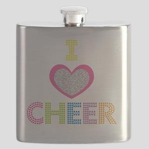 I Heart Cheer Flask