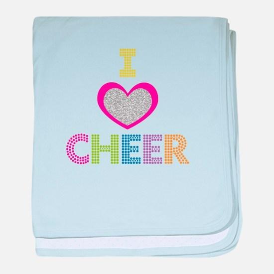 I Heart Cheer baby blanket
