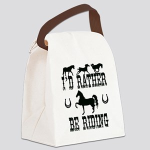 Horse - I'd Rather Be Riding Canvas Lunch Bag