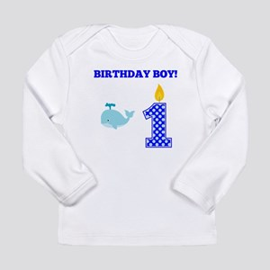 Birthday Boy Whale Long Sleeve T-Shirt