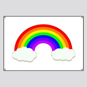 Rainbow in the clouds Banner
