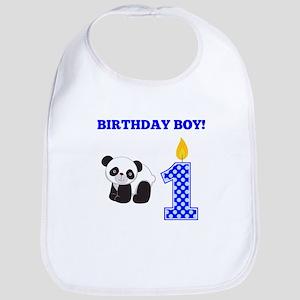 Birthday Boy Panda Bib
