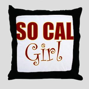 So Cal Girl Throw Pillow