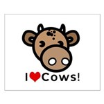 I Love Cows Small Poster