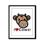 I Love Cows Framed Panel Print
