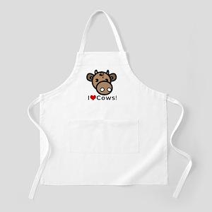 I Love Cows BBQ Apron
